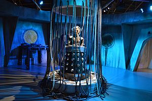 The Magician's Apprentice (Doctor Who) - Davros on the Skaro set, on display at the Doctor Who Experience.