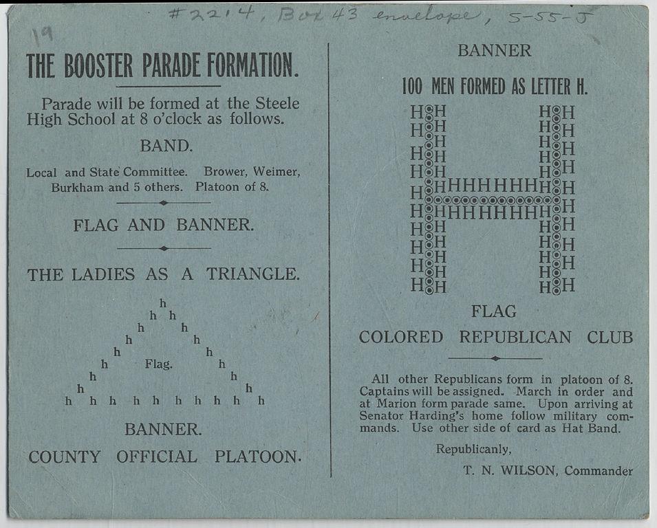 Filedayton Harding Boosters Parade Instructions And Hat Band
