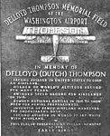DeLloyd Thompson plaque at Washington County Airport 1949.jpg