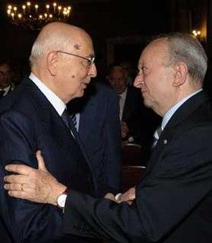 Tullio De Mauro - Tullio De Mauro with the Italian President Giorgio Napolitano