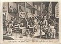 De uitvinding van het polijsten van wapenuitrusting, Jan Collaert II, Museum Plantin-Moretus, PK OPB 0186 015.jpg