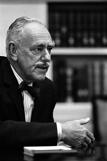 English: Dean Acheson at Meeting of President'...