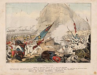 Gwalior Campaign - The death of Major General Churchill at the Battle of Maharajpore