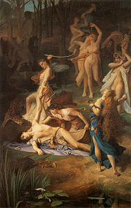 Death of Orpheus by Émile Lévy (1866).jpg