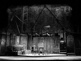 Jo Mielziner - Mielziner's set design for Arthur Miller's Death of a Salesman (1949)
