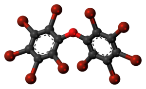 Decabromodiphenyl ether - Image: Decabromodiphenyl ether 3D ball