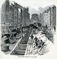 Deepening the Fleet sewer, 1845.jpg