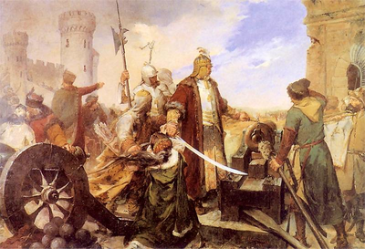 Defence of Olsztyn (Silesia) in 1587.png