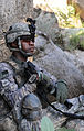 Defense.gov News Photo 100723-A-0846W-529 - U.S. Army Pfc. David B. James keeps watch during a patrol halt in the Watapur Valley Kunar province Afghanistan on July 23 2010. Afghan.jpg