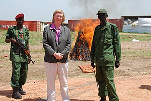 """Rosalind Marsden - Her Majesty's Ambassador to Sudan, Dr Rosalind Marsden, attended the launch of the """"Southern Sudan Demobilisation, Disarmament and Reintegration"""" (DDR) programme in Juba on 10 June 2009. The UK has donated £20 million to this process, the largest of its kind in the world."""
