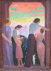 Femmes sur le balcon