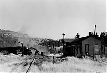 Denver and Rio Grande narrow gauge freight near Chama 1968.JPG