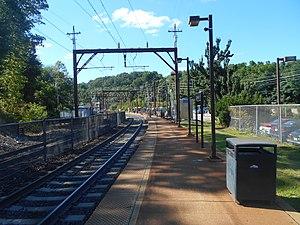 Denville station - Denville station's Morristown Line platform.