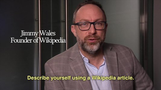 File:Describe yourself using a Wikipedia article.webm