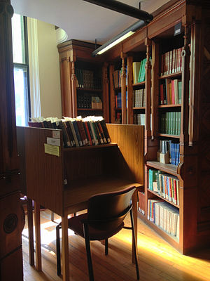 Islamic Studies Library - Desk in the Islamic Studies Library