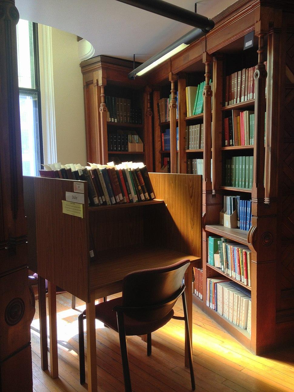Desk in Islamic Studies Library