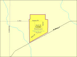 Detailed map of Latimer, Kansas