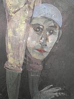 Detall del mural dret Guinovart a Mundet - saltimbanqui.JPG