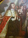 """Detall del quadre """"Visió del rei Martí I"""", Josep Vergara Gimeno, Museu d Belles Arts de Castelló"""