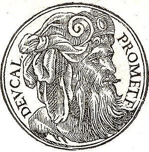 """Deucalion - Deucalin from """"Promptuarii Iconum Insigniorum """""""