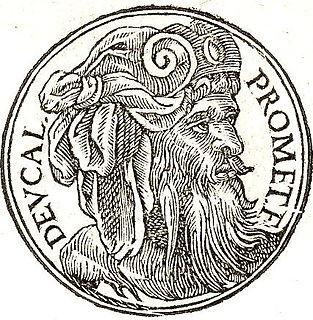 Deucalion son of Prometheus in Greek mythology