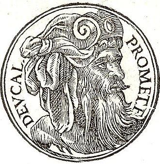 """Deucalion - Deucalin from """"Promptuarii Iconum Insigniorum"""""""