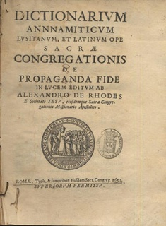 <i>Dictionarium Annamiticum Lusitanum et Latinum</i> book by Alexandre de Rhodes