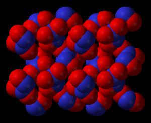 Dinitrogen trioxide - Image: Dinitrogen trioxide xtal 3D vd W