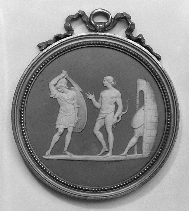 Diomedes prevented by Apollo from pursuing Aeneas (?) MET 80355