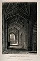 Divinity School, Oxford; hallway. Line engraving by J. Le Ke Wellcome V0014105.jpg