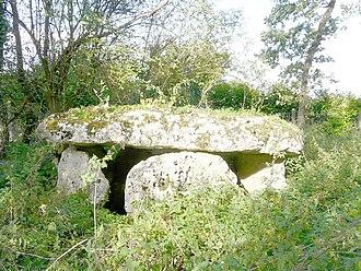 Aslonnes - The Dolmen of Laverré, in Aslonnes