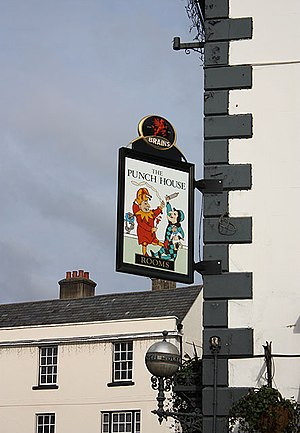 Punch House, Monmouth - Image: Domestic violence in Agincourt Square geograph.org.uk 1707916