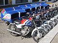 Domino's Pizza delivery motorcycles, Puerto Vallarta (2014).JPG