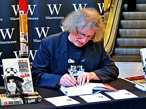 Don Powell - Powell signing copies of his biography Look Wot I Dun - My Life in Slade at Liverpool One's Waterstones in 2014.