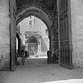 Doorkijk naar de gebedsnis van de profeet op de Tempelberg, Bestanddeelnr 255-5447.jpg