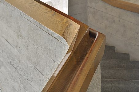 Goetheanum: handrail at western staircase