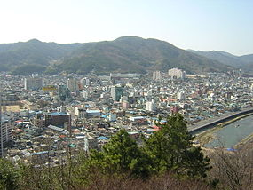 Vista do centro de Suncheon