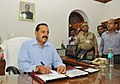 Dr. Jitendra Singh taking charge as the Minister for State for Personnel, Public Grievances & Pensions, in New Delhi on May 27, 2014.jpg