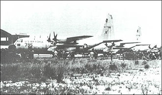 Operation Dragon Rouge - Aircraft at Kamina airfield prior to Stanleyville flight