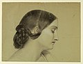Drawing, Profile of a Woman with a Braided Knot, ca. 1845 (CH 18565737).jpg