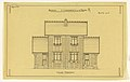 Drawing, Rendering of the Elevation of the Principal Facade of a Two Family Mass-Operation House (type No.1), ca. 1921 (CH 18384997).jpg