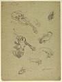 Drawing, Sheet of Studies of Hands of a Violin Player, 1878 (CH 18176307).jpg