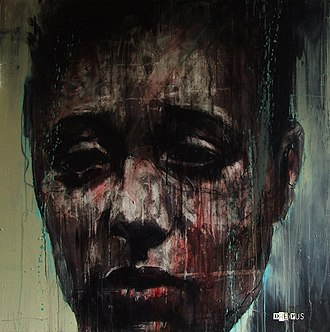 Renée Jeanne Falconetti - Portrait of Falconetti as Joan of Arc by Guy Denning