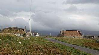 South Uist - Blackhouses in Drimsdale