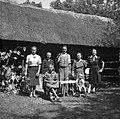 Družina Ignaca Jordana, Prekopa in Antonije Jurgalič iz Grobelj 26, pred hramom na Tolstem Vrhu 1952.jpg