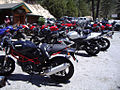 Ducati Monster, GSX-R and other motorcycles in lot at Newcomb's Ranch.jpg