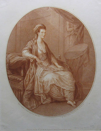 Stipple engraving - The Duchess of Richmond, a stipple engraving portrait by William Wynne Ryland after Angelica Kauffman (1775)