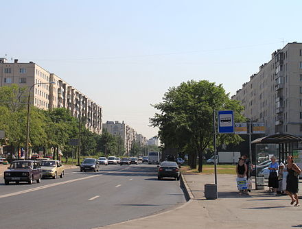 Soviet era apartment buildings in Saint Petersburg, July 2010 Dundicha.JPG
