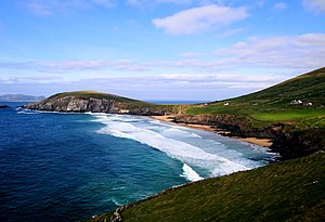 Ryan's Daughter - The beach between Slea Head and Dunmore Head on the Dingle Peninsula, Ireland, a location where scenes for Ryan's Daughter were filmed.