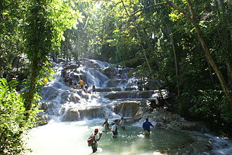 Water resources management in Jamaica - Dunn's River Falls in Ocho Ríos.